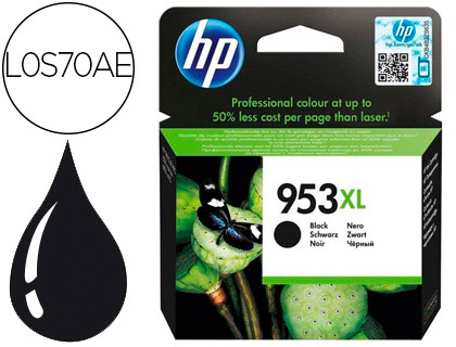 INK-JET HP 953XL OFFICEJET PRO 7730/7740/8725 8730/8740/8745 NEGRO 2000 PAGINAS