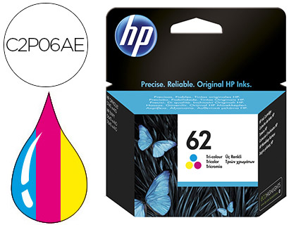 INK-JET HP N.62 OFFICEJET 5640 / 7640 / 5740 PACK MULTICOLOR -165 PAG-