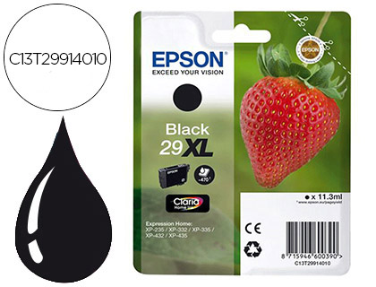 INK-JET EPSON HOME 29XL T2991 XP435/330/335/332/430/235/432 NEGRO 450 PAG